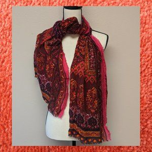 Wom Geisha Red Medallion Paisley Wrap Collection18
